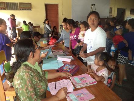 Posyandu di Desa Telaga dan Sosialisai  Imunisasi MR (measles rubella)