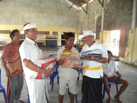 Kegiatan Rutin Pemberian Bantuan Sembako  Kepada Penyandang Disabilitas di Desa Telaga